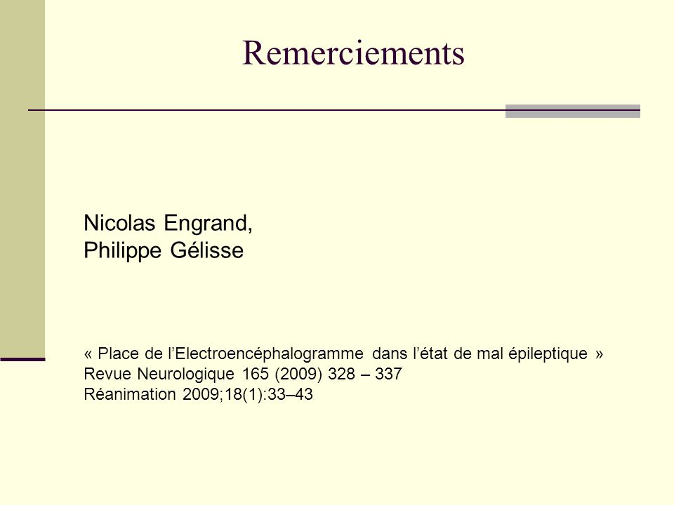 Remerciements Nicolas Engrand, Philippe Gélisse