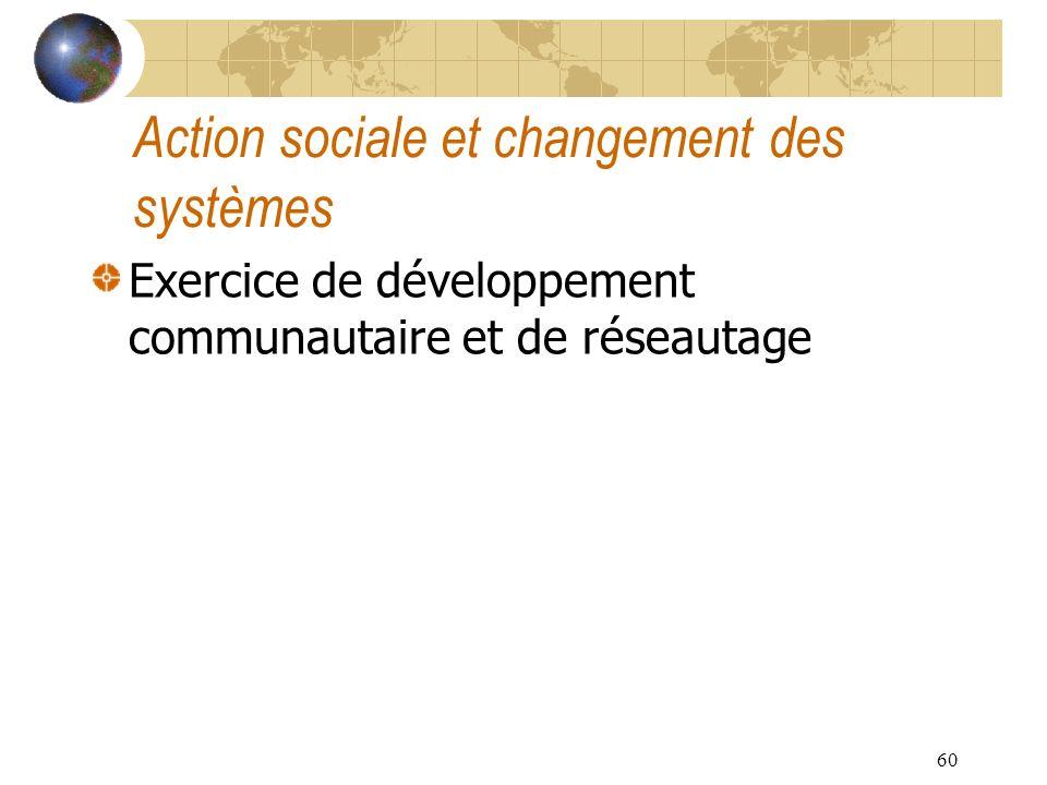 Action sociale et changement des systèmes