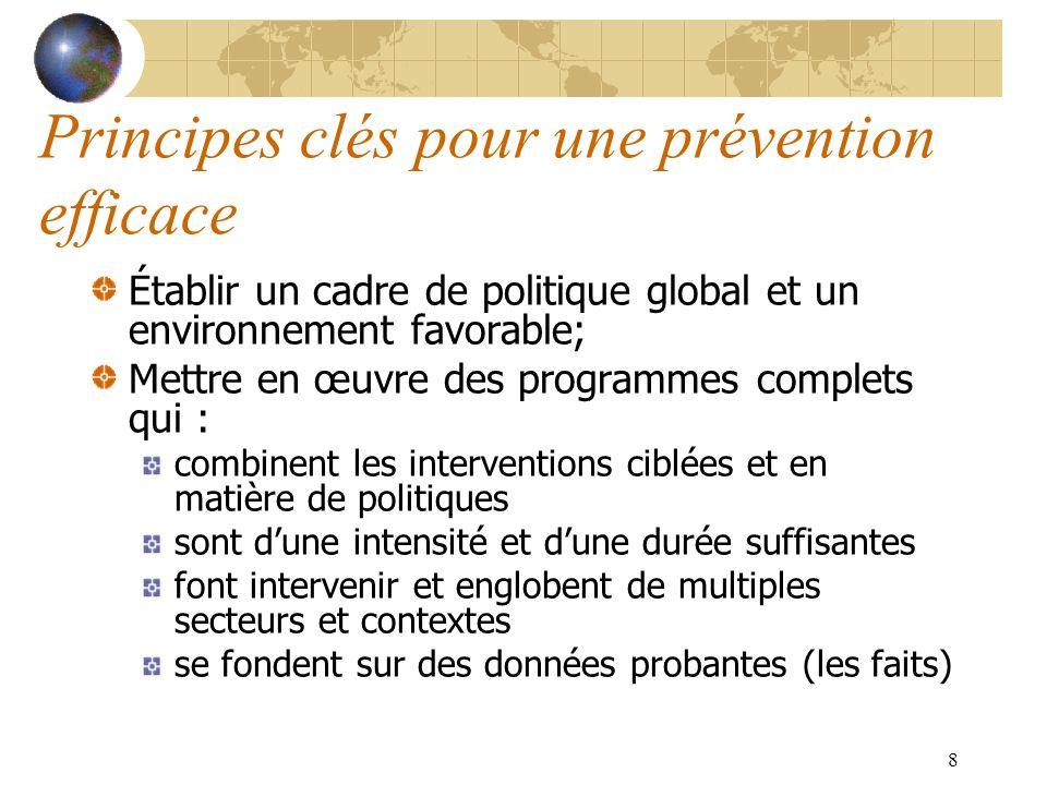Principes clés pour une prévention efficace