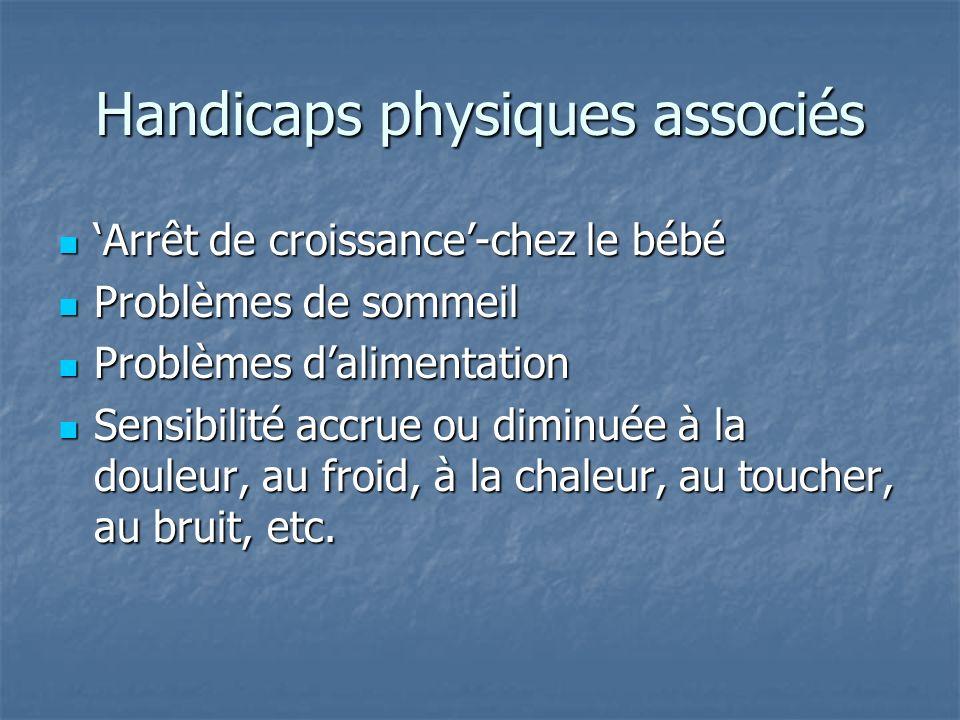 Handicaps physiques associés
