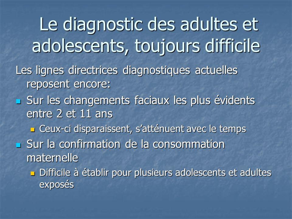 Le diagnostic des adultes et adolescents, toujours difficile