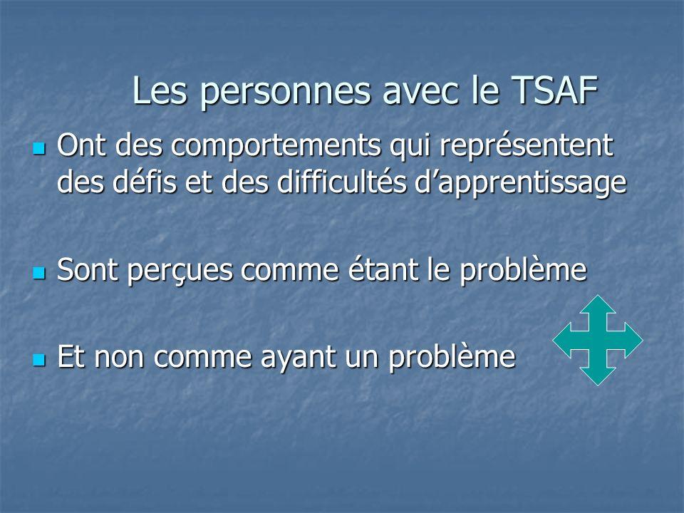 Les personnes avec le TSAF
