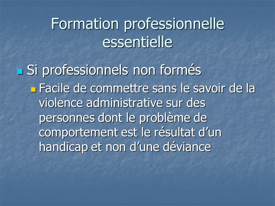 Formation professionnelle essentielle