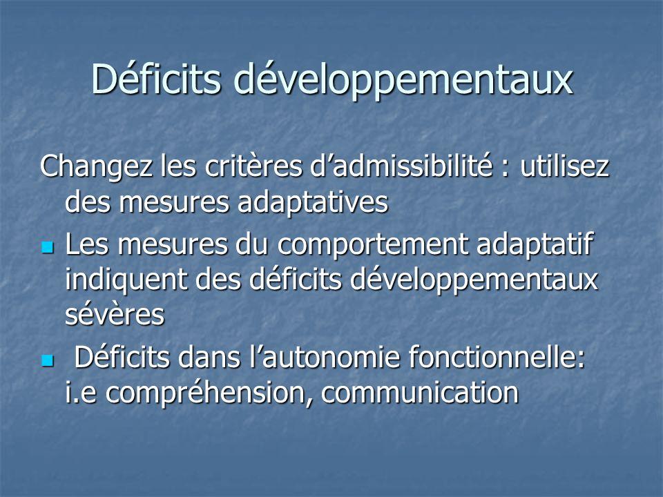 Déficits développementaux