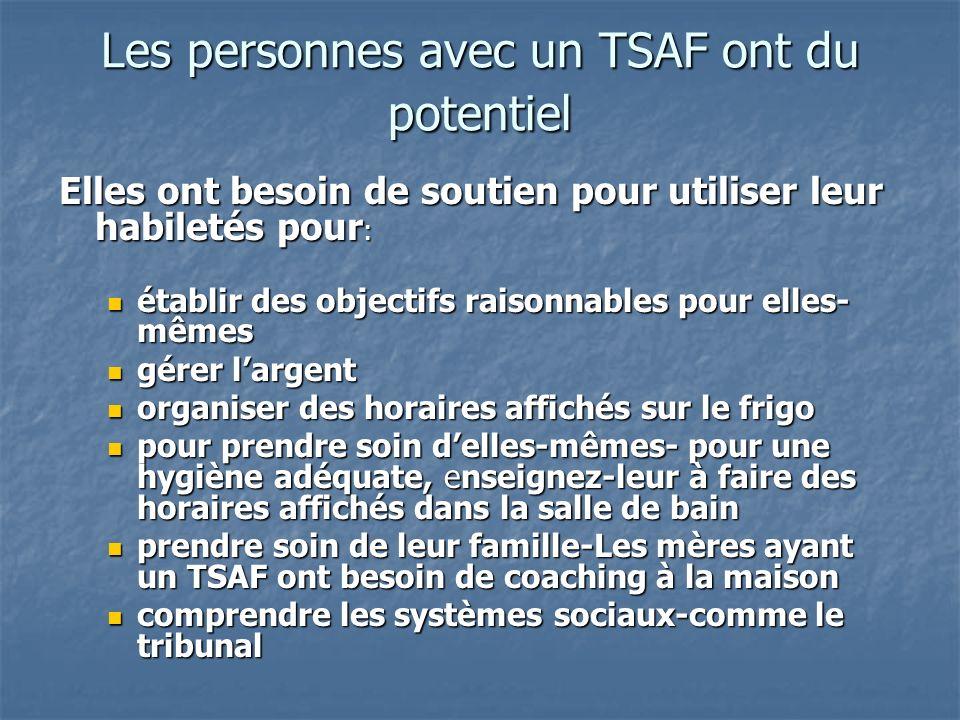 Les personnes avec un TSAF ont du potentiel