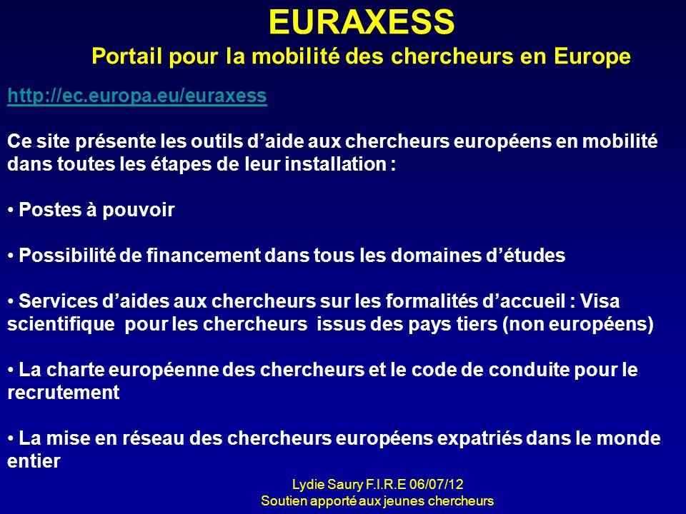 EURAXESS Portail pour la mobilité des chercheurs en Europe
