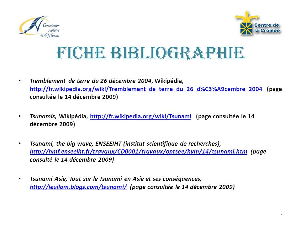 Fiche bibliographie