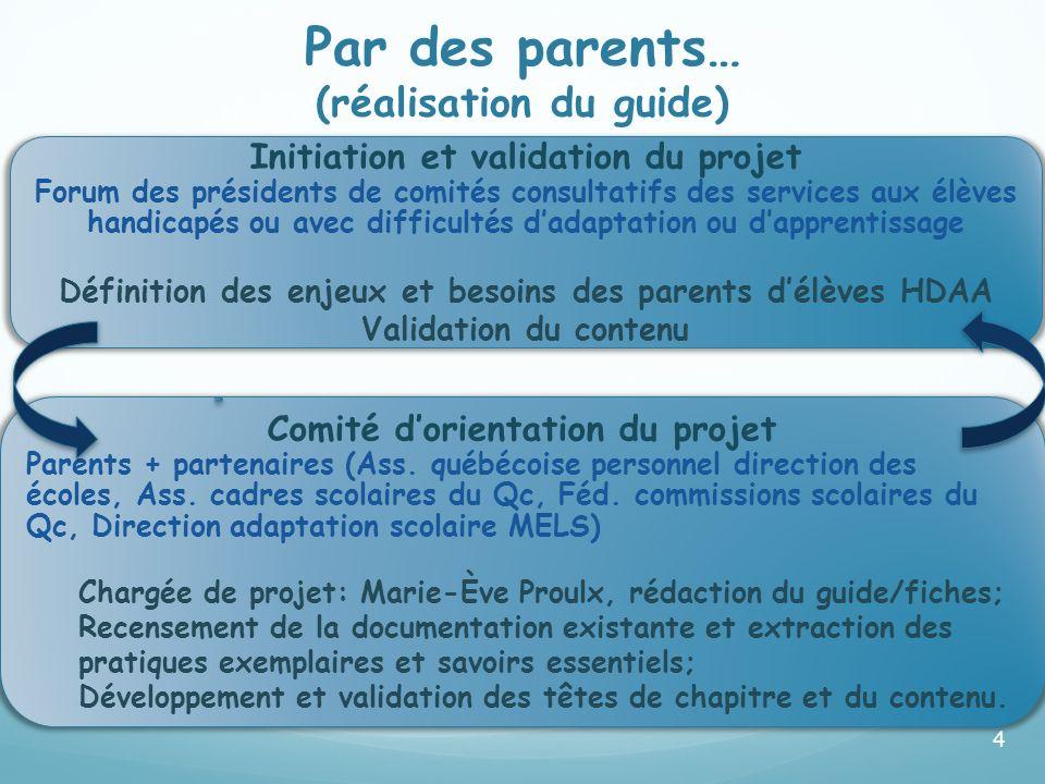 A défini les enjeux et besoins des parents d'élèves EHDAA.