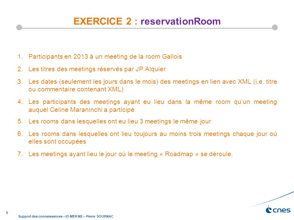 EXERCICE 2 : reservationRoom