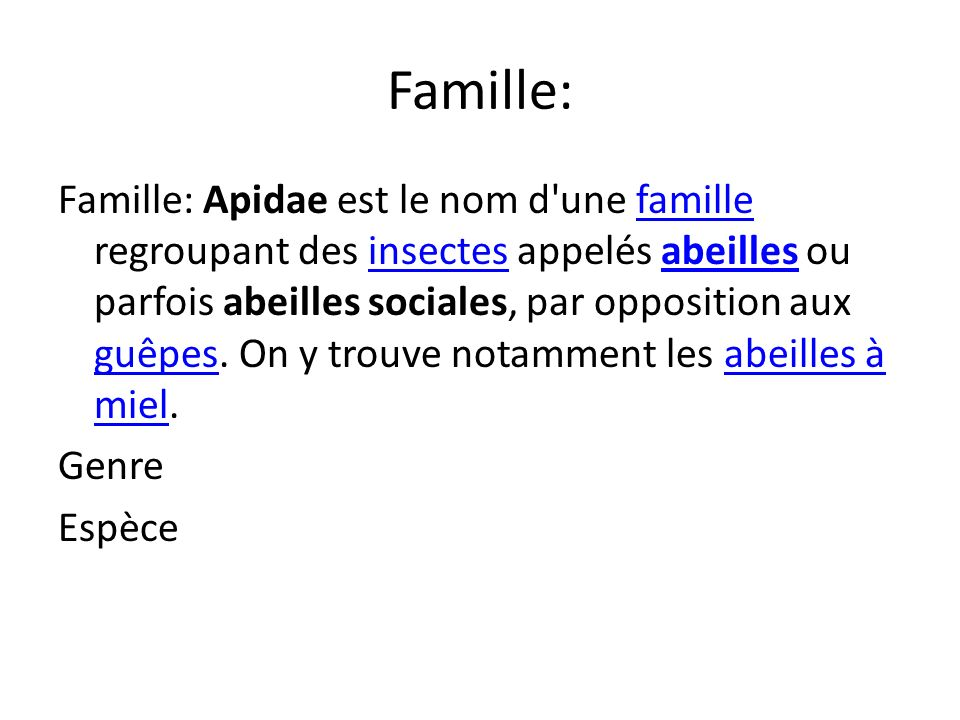 Famille: