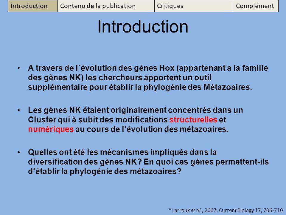 Introduction Contenu de la publication. Critiques. Complément. Introduction.