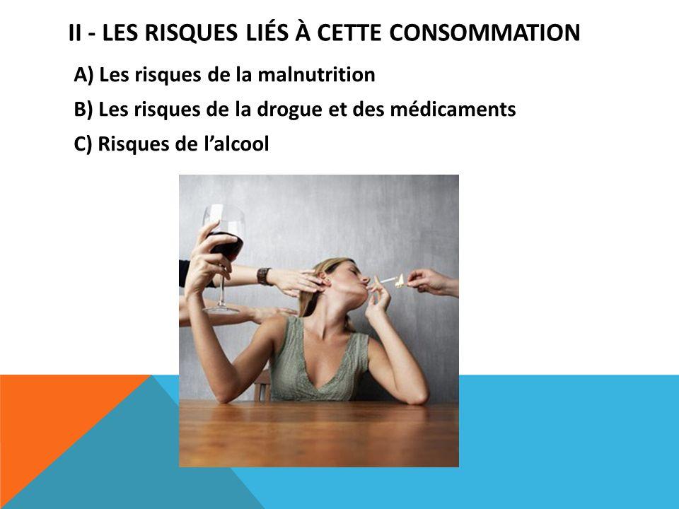 II - Les risques liés à cette consommation