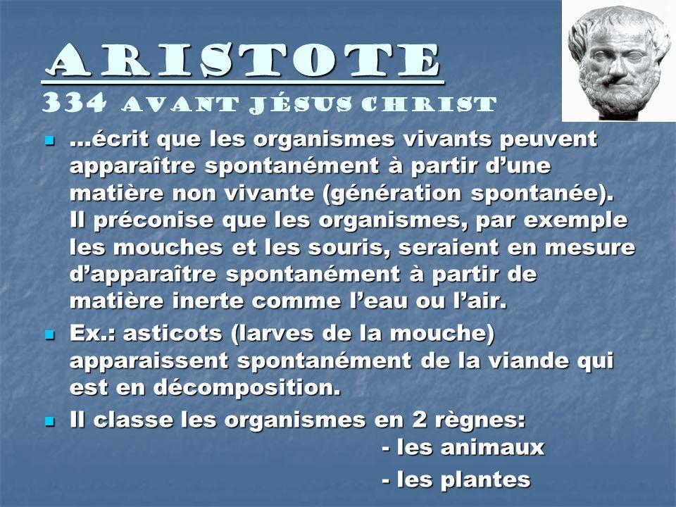 Aristote 334 avant Jésus Christ