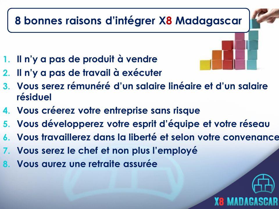 8 bonnes raisons d'intégrer X8 Madagascar