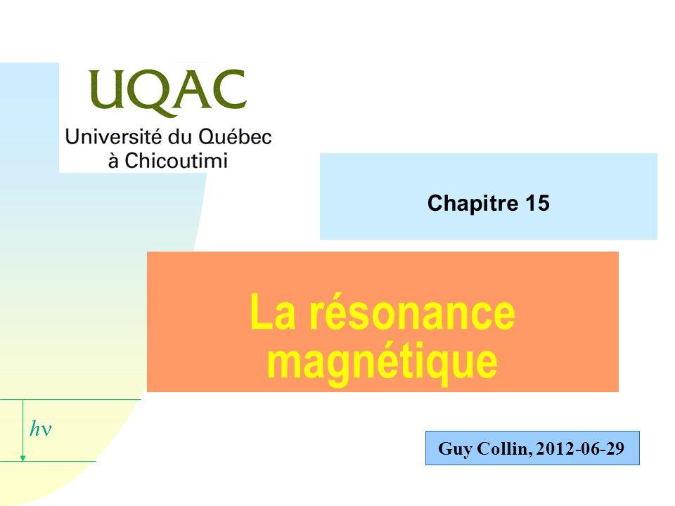 La résonance magnétique