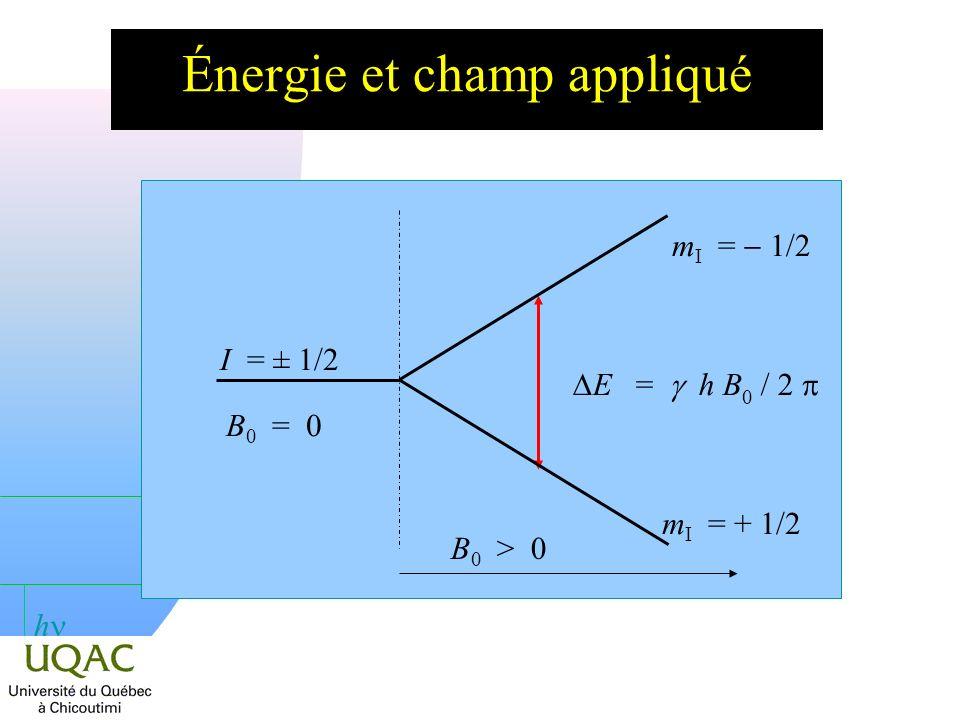 Énergie et champ appliqué