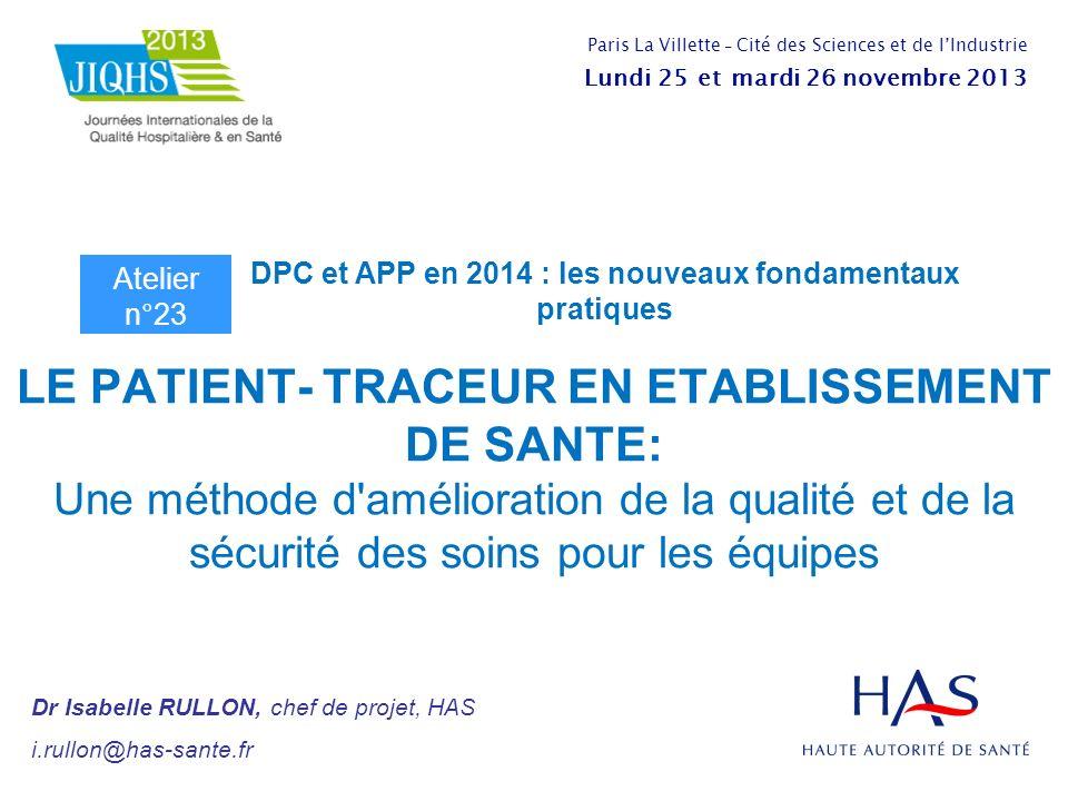 DPC et APP en 2014 : les nouveaux fondamentaux pratiques