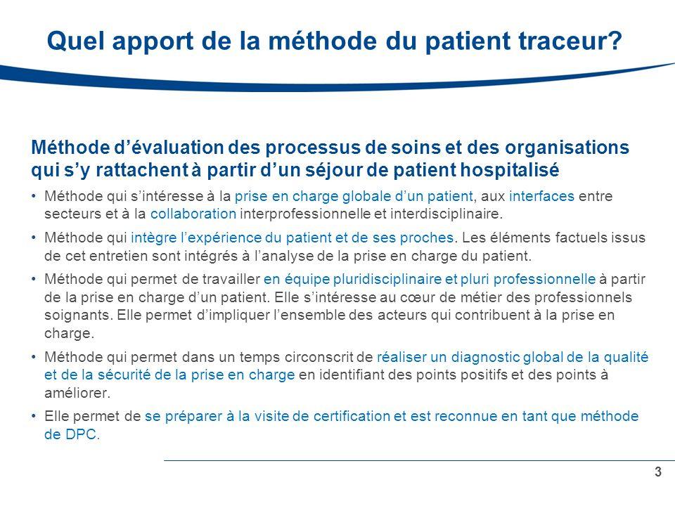 Quel apport de la méthode du patient traceur