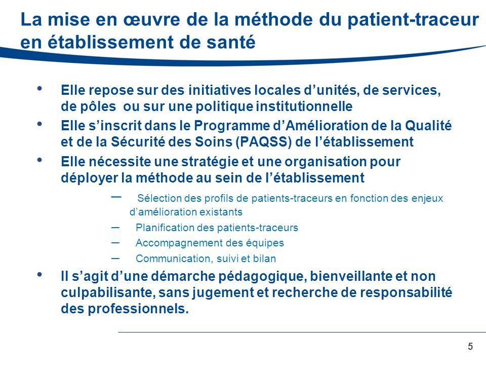 La mise en œuvre de la méthode du patient-traceur en établissement de santé