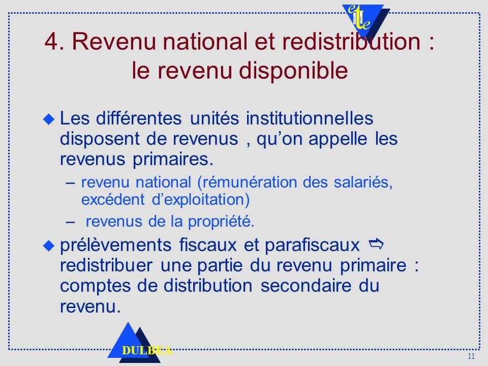 4. Revenu national et redistribution : le revenu disponible