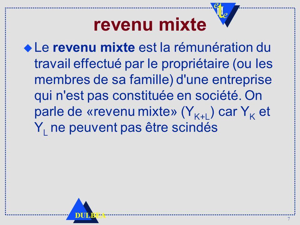 revenu mixte