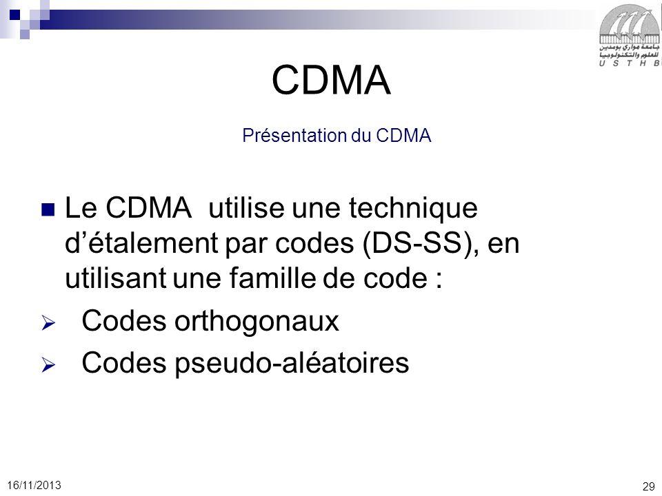 CDMA Présentation du CDMA