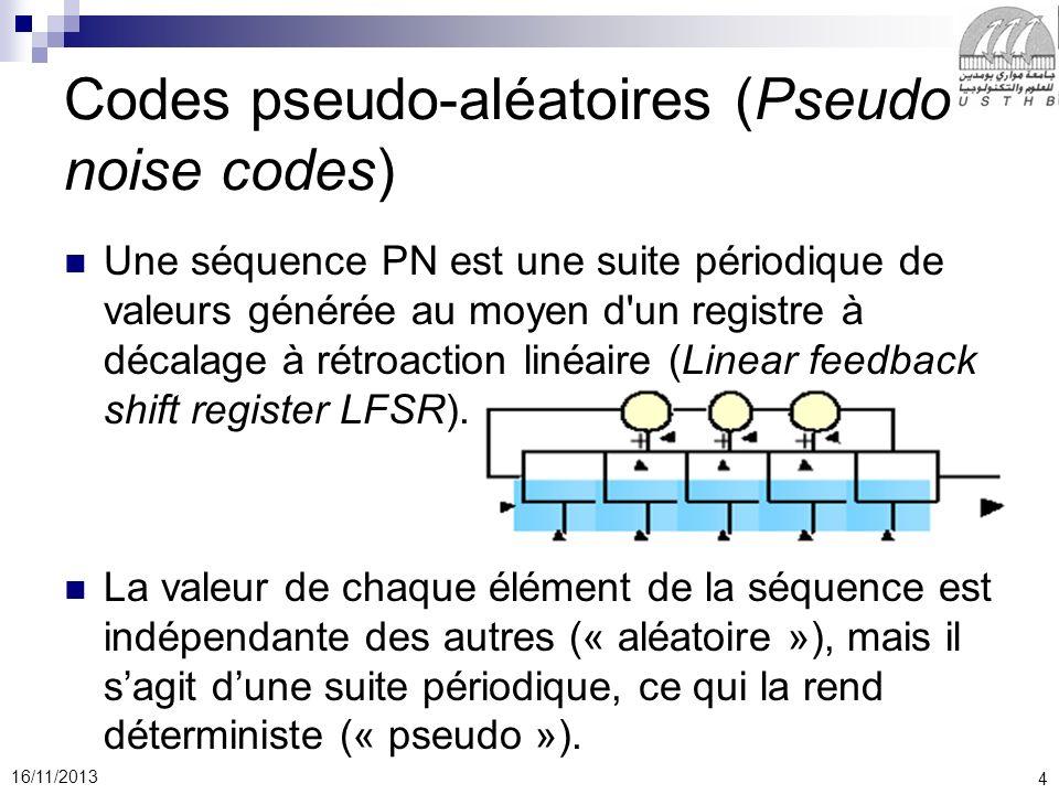 Codes pseudo-aléatoires (Pseudo noise codes)
