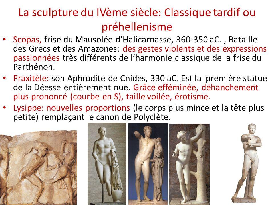La sculpture du IVème siècle: Classique tardif ou préhellenisme