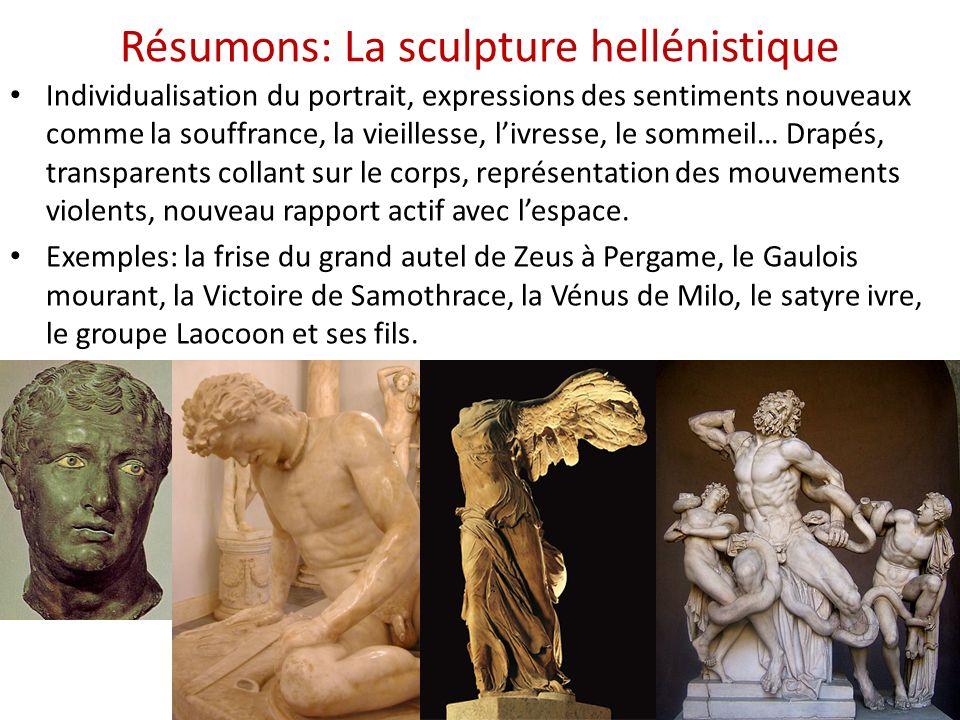 Résumons: La sculpture hellénistique