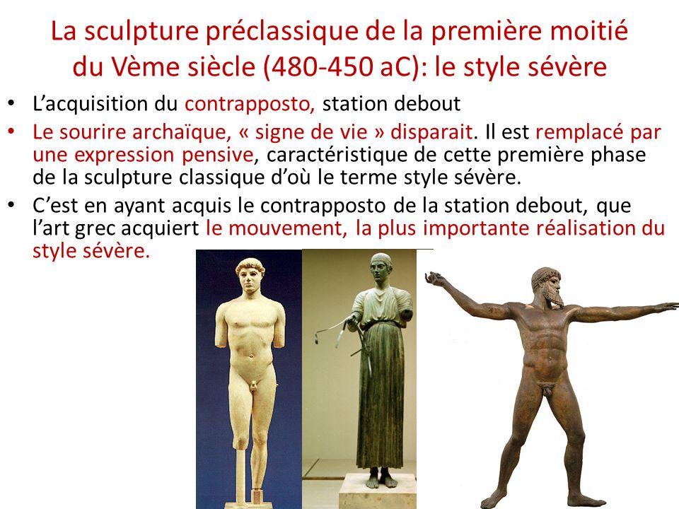 La sculpture préclassique de la première moitié du Vème siècle (480-450 aC): le style sévère