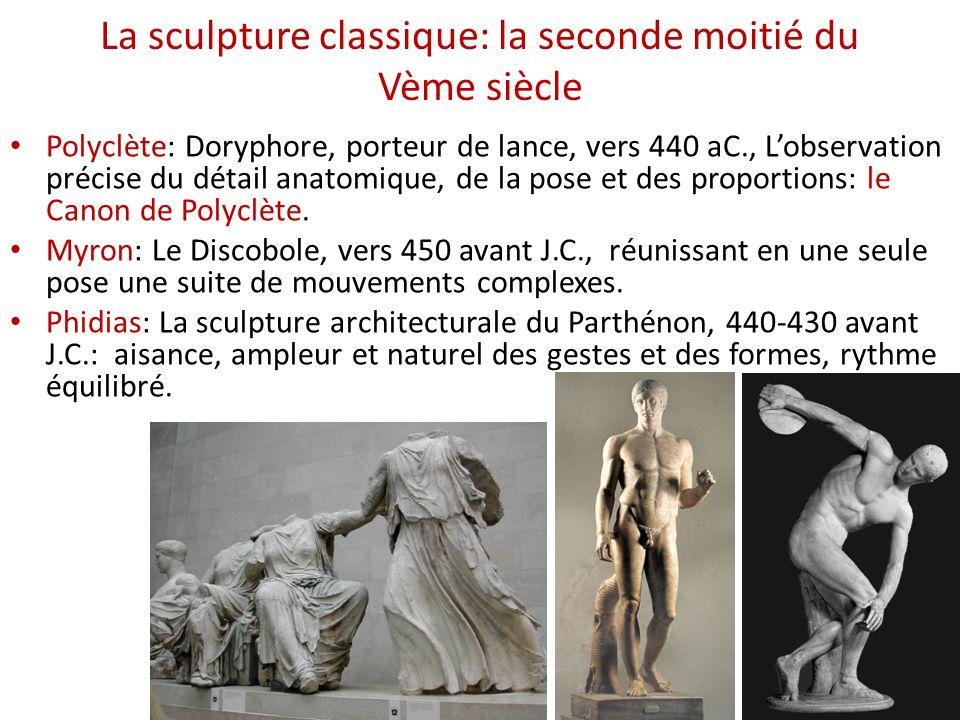 La sculpture classique: la seconde moitié du Vème siècle