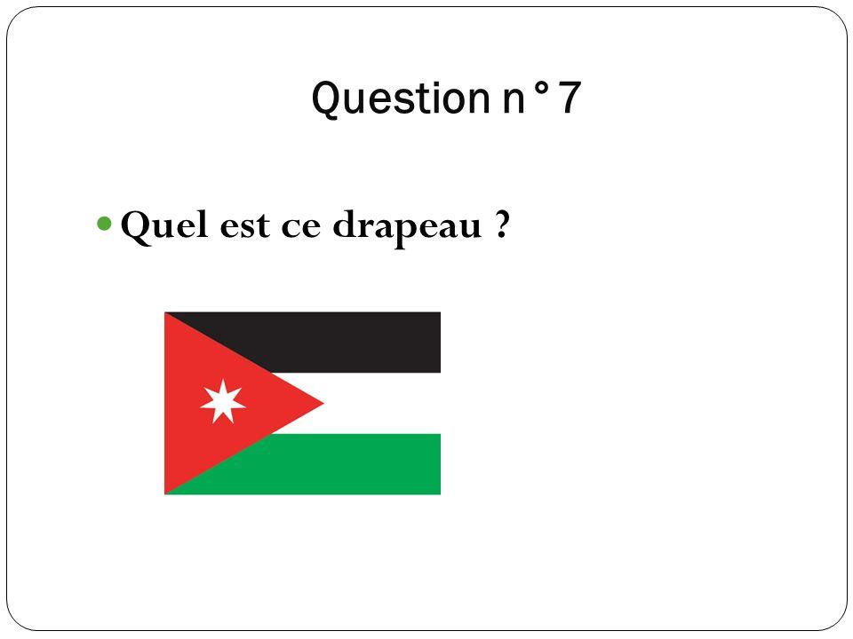 Question n°7 Quel est ce drapeau