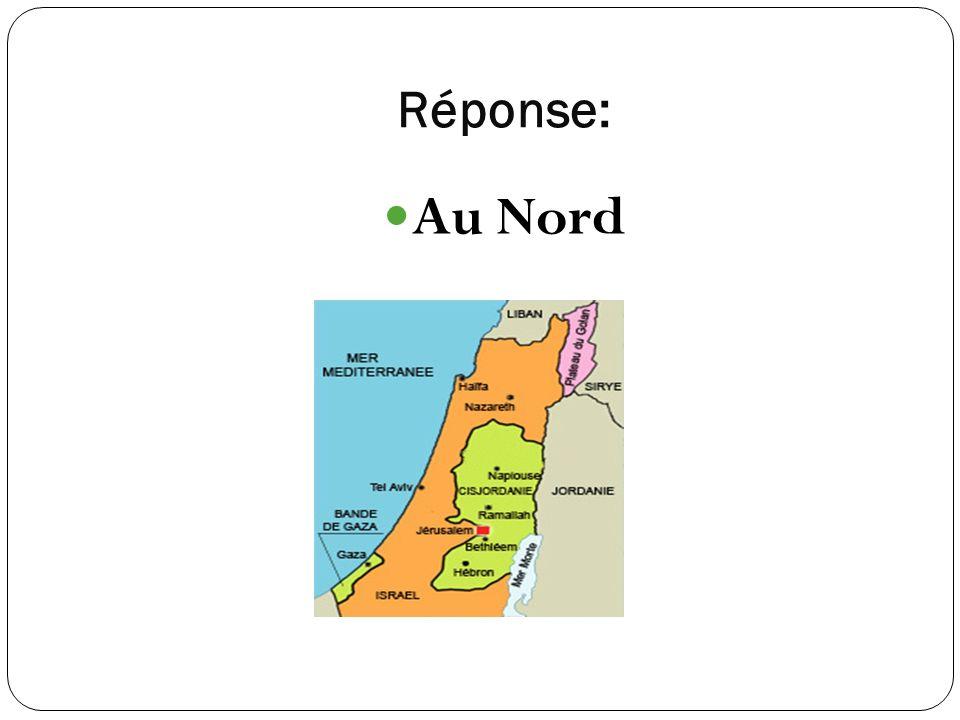 Réponse: Au Nord