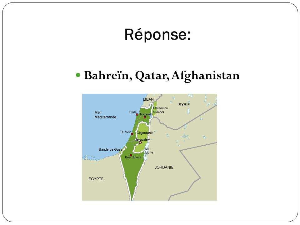Bahreïn, Qatar, Afghanistan