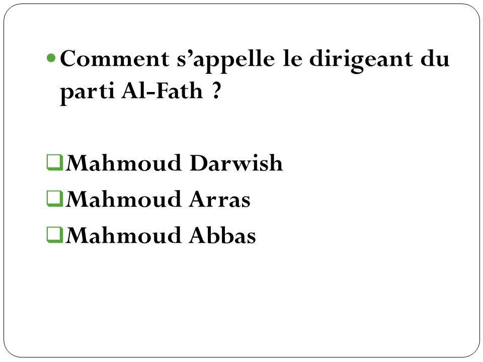 Comment s'appelle le dirigeant du parti Al-Fath
