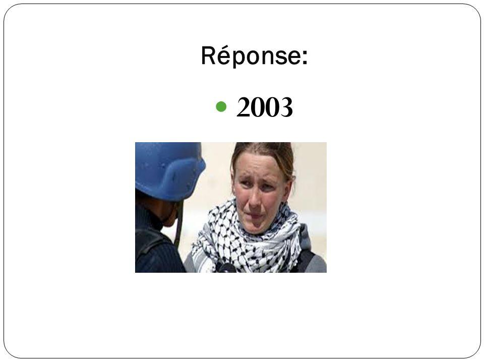 Réponse: 2003