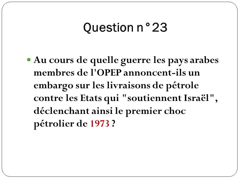 Question n°23