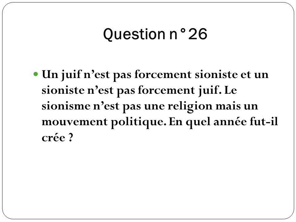 Question n°26