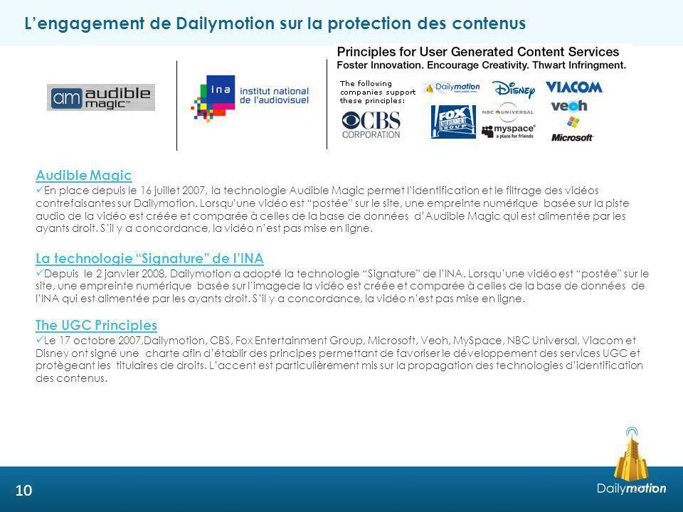 L'engagement de Dailymotion sur la protection des contenus