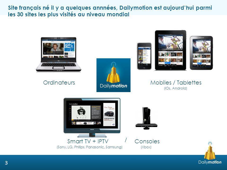 Site français né il y a quelques annnées, Dailymotion est aujourd'hui parmi les 30 sites les plus visités au niveau mondial