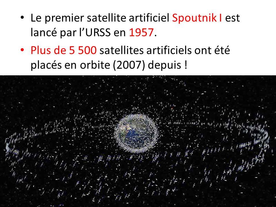 Le premier satellite artificiel Spoutnik I est lancé par l'URSS en 1957.