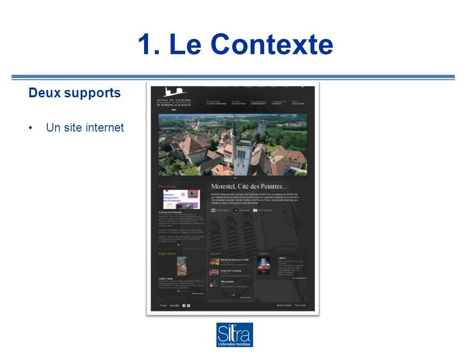 1. Le Contexte Deux supports Un site internet