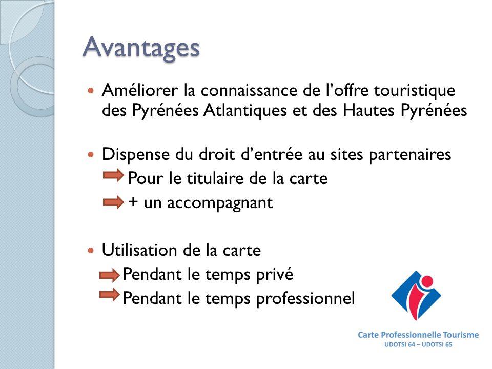 Avantages Améliorer la connaissance de l'offre touristique des Pyrénées Atlantiques et des Hautes Pyrénées.