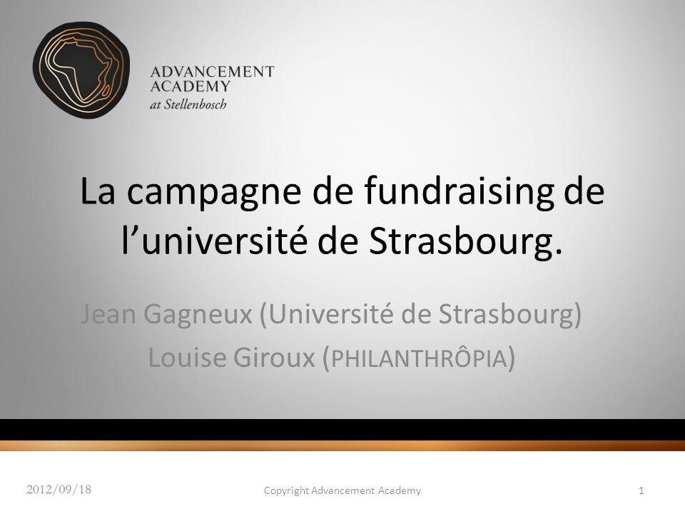 La campagne de fundraising de l'université de Strasbourg.
