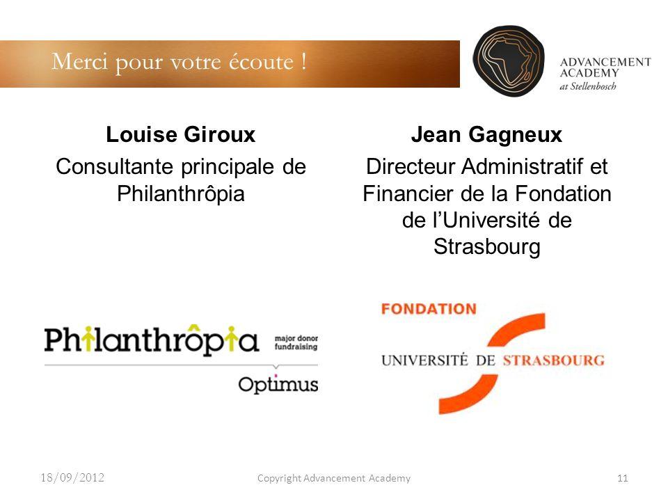 Louise Giroux Consultante principale de Philanthrôpia