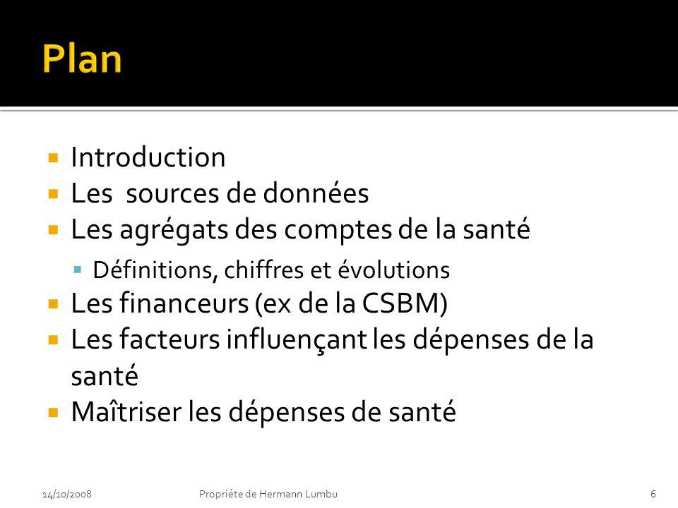 Plan Introduction Les sources de données