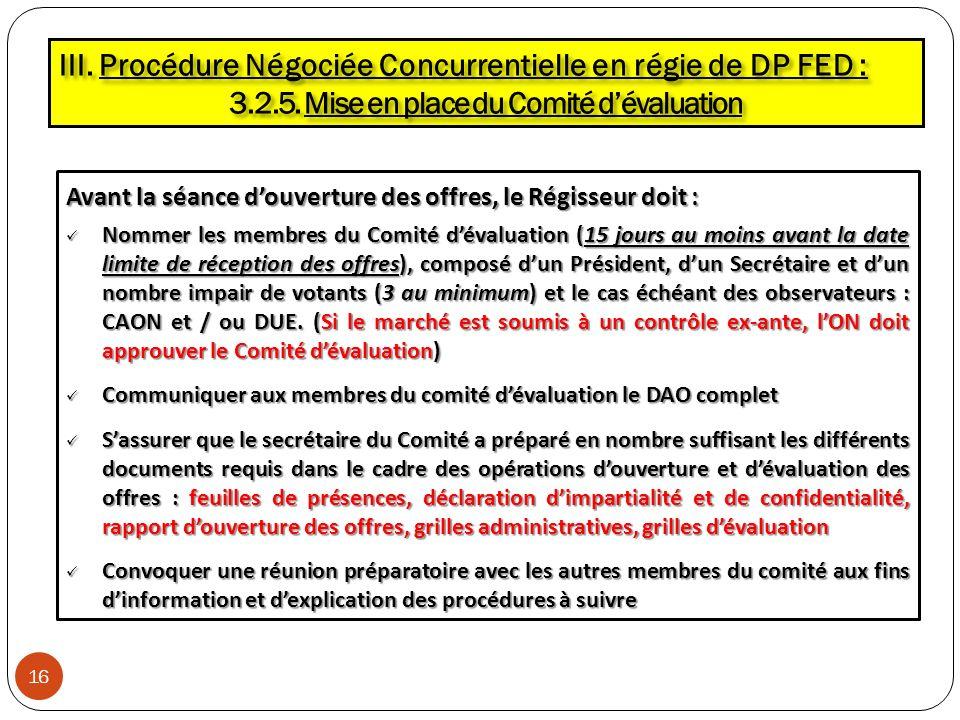 3.2.5. Mise en place du Comité d'évaluation