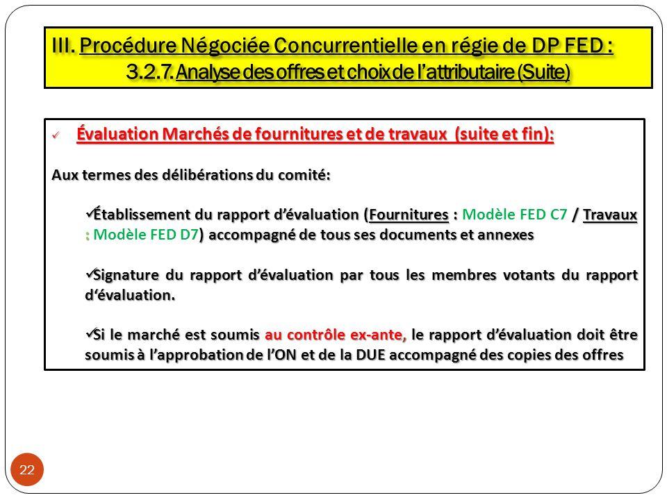 3.2.7. Analyse des offres et choix de l'attributaire (Suite)