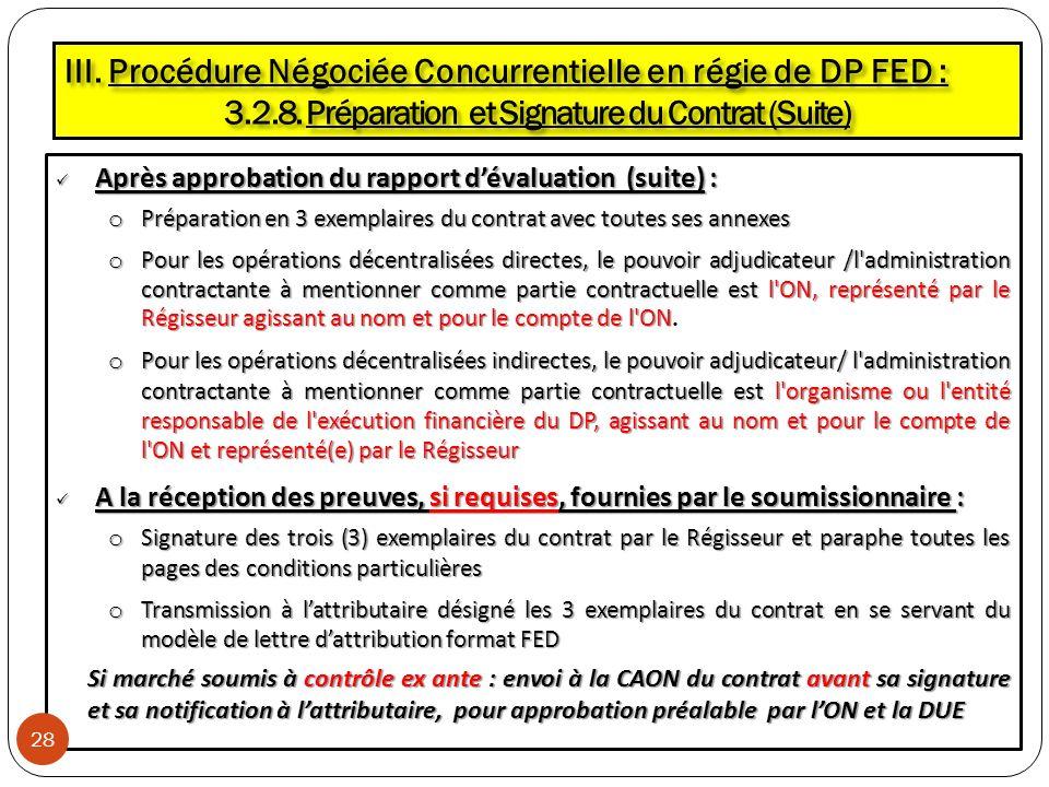 3.2.8. Préparation et Signature du Contrat (Suite)