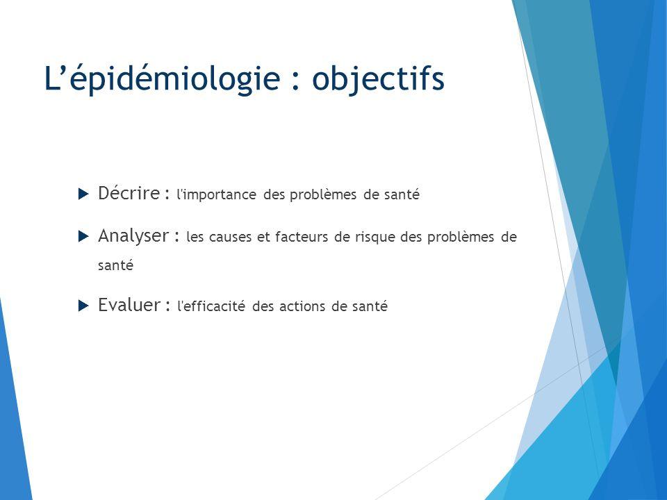 L'épidémiologie : objectifs